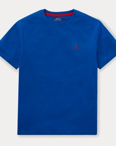 폴로 랄프로렌 Polo Ralph Lauren Cotton Jersey Crewneck T-Shirt,Sapphire Star