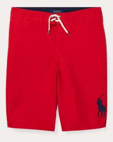 폴로 랄프로렌 Polo Ralph Lauren Sanibel Big Pony Swim Trunk,RL 2000 Red