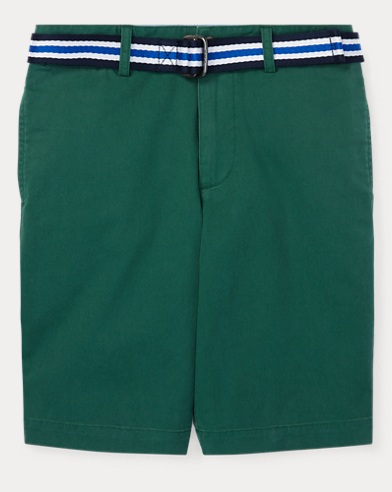 폴로 랄프로렌 Polo Ralph Lauren Slim Fit Belted Stretch Short,Kelly Green