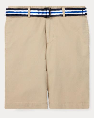 폴로 랄프로렌 Polo Ralph Lauren Slim Fit Belted Stretch Short,Classic Khaki