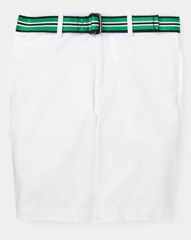 폴로 랄프로렌 Polo Ralph Lauren Slim Fit Belted Stretch Short,White