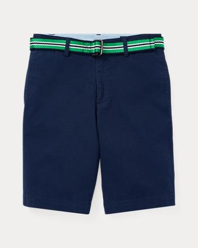 폴로 랄프로렌 Polo Ralph Lauren Slim Fit Belted Stretch Short,Newport Navy