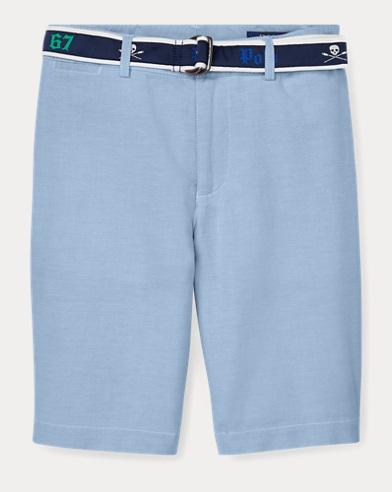 폴로 랄프로렌 Polo Ralph Lauren Slim Fit Belted Stretch Short,Bsr Blue