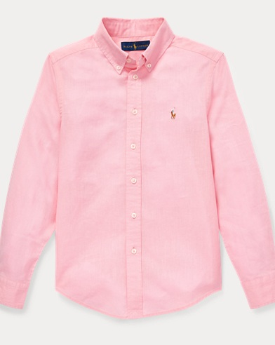 폴로 랄프로렌 Polo Ralph Lauren Slub Linen-Cotton Shirt,Taylor Rose