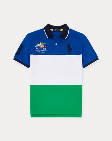 폴로 랄프로렌 보이즈 폴로 셔츠 Polo Ralph Lauren Cotton Mesh Polo Shirt,Sapphire Star