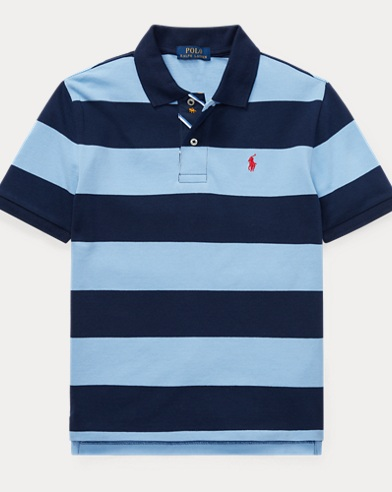 폴로 랄프로렌 Polo Ralph Lauren Striped Cotton Mesh Polo Shirt,Collin Blue Multi
