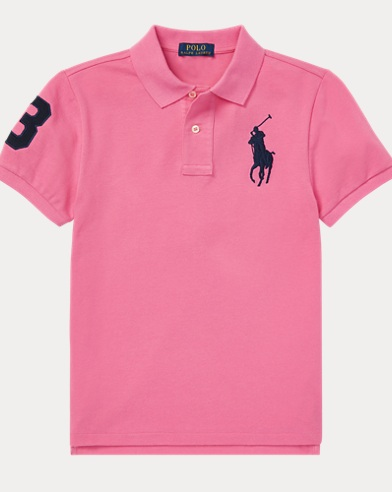 폴로 랄프로렌 Polo Ralph Lauren Slim Fit Cotton Mesh Polo,Maui Pink