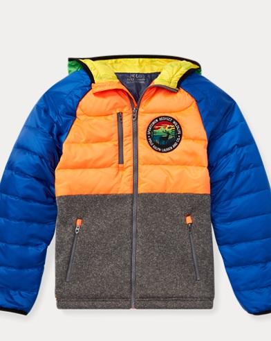 폴로 랄프로렌 Polo Ralph Lauren Hybrid Down Jacket,Shocking Orange