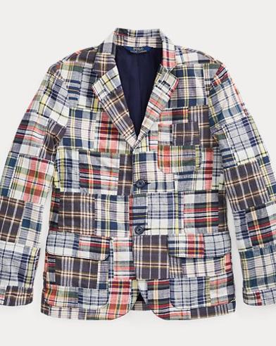 폴로 랄프로렌 자켓 Polo Ralph Lauren Patchwork Madras Sport Coat,Patchwork