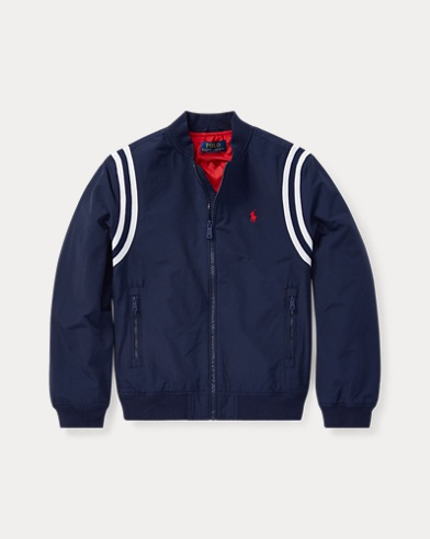 폴로 랄프로렌 Polo Ralph Lauren Polo Baseball Jacket,Newport Navy