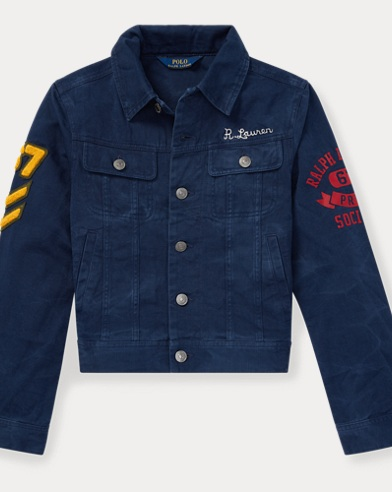 폴로 랄프로렌 Polo Ralph Lauren Denim Graphic Trucker Jacket,Newport Navy