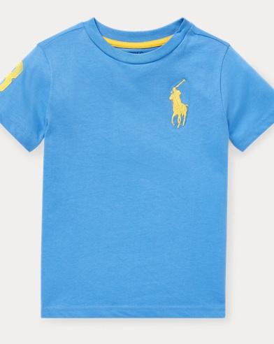 폴로 랄프로렌 Polo Ralph Lauren Big Pony Cotton Jersey Tee,Harbor Island Blue