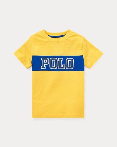 폴로 랄프로렌 Polo Ralph Lauren Cotton Jersey Graphic T-Shirt,Chrome Yellow