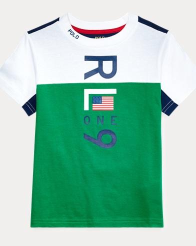 폴로 랄프로렌 남아용 그래픽 반팔 티셔츠 Polo Ralph Lauren Cotton Jersey Graphic Tee,White