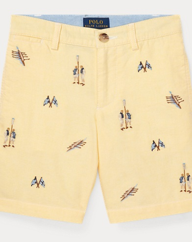 폴로 랄프로렌 남아용 반바지 Polo Ralph Lauren Slim Fit Cotton Oxford Short,Bsr Yellow