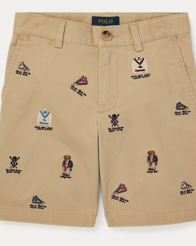 폴로 랄프로렌 남아용 반바지 Polo Ralph Lauren Slim Fit Stretch Chino Short,Classic Khaki