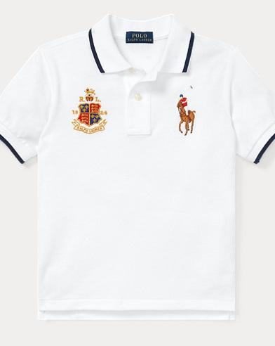 폴로 랄프로렌 남아용 경량 코튼 매시 반팔 폴로셔츠 Polo Ralph Lauren Featherweight Cotton Mesh Polo,White