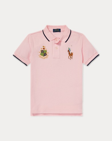 폴로 랄프로렌 Polo Ralph Lauren Featherweight Cotton Mesh Polo,카멜 Carmel Pink