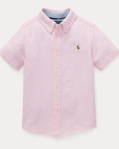 폴로 랄프로렌 Polo Ralph Lauren Knit Cotton Oxford Shirt,카멜 Carmel Pink