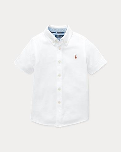 폴로 랄프로렌 Polo Ralph Lauren Knit Cotton Oxford Shirt,White