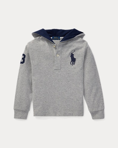 폴로 랄프로렌 남아용 후드티 Polo Ralph Lauren Cotton Mesh Hoodie,Andover Heather
