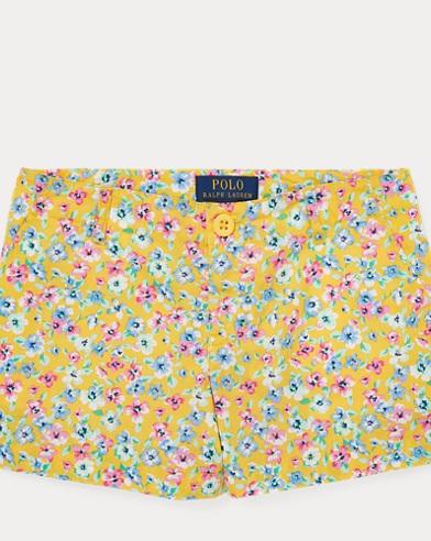 폴로 랄프로렌 걸즈 꽃무늬 포폴린 반바지 Polo Ralph Lauren Floral Poplin Short,Yellow Multi