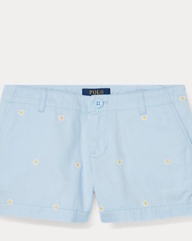 폴로 랄프로렌 Polo Ralph Lauren Embroidered Chino Short,Elite Blue