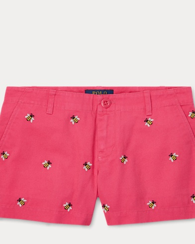 폴로 랄프로렌 Polo Ralph Lauren Embroidered Chino Short,Ultra Pink