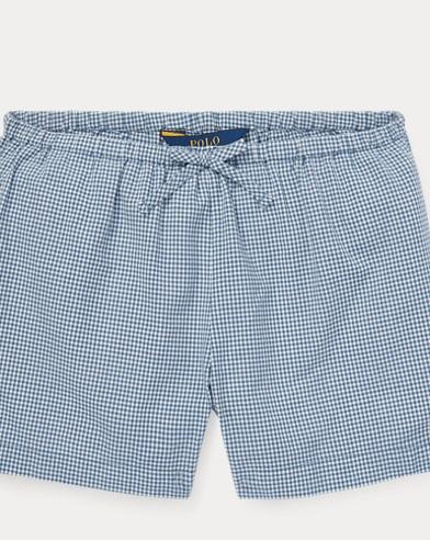 폴로 랄프로렌 걸즈 깅엄 반바지, 코튼 포플린Polo Ralph Lauren Gingham Cotton Poplin Short,Blue/Deckwash White