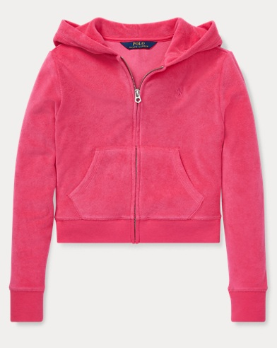 폴로 랄프로렌 Polo Ralph Lauren Cotton-Blend-Terry Hoodie,Ultra Pink