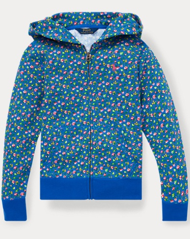 폴로 랄프로렌 Polo Ralph Lauren Floral Cotton Terry Hoodie,Blue Multi