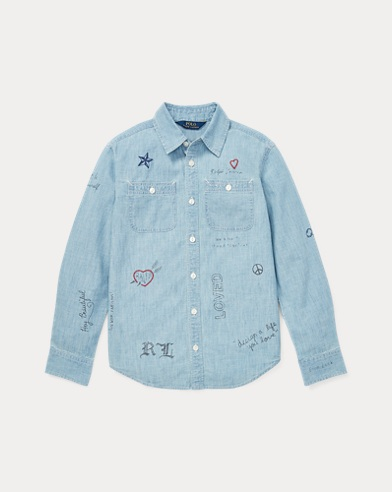 폴로 랄프로렌 Polo Ralph Lauren Cotton Chambray Shirt,Indigo