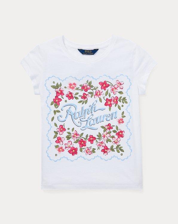 폴로 랄프로렌 걸즈 티셔츠 Polo Ralph Lauren Cotton Jersey Graphic Tee,White