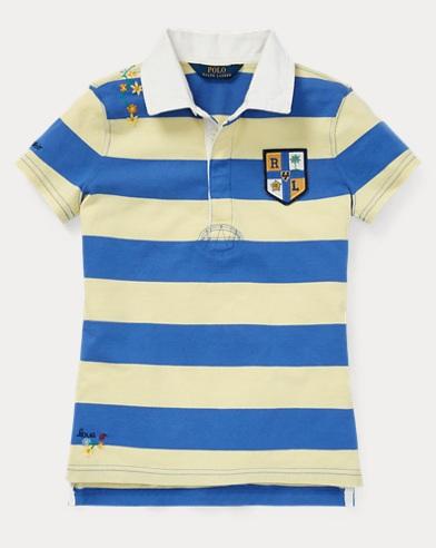 폴로 랄프로렌 Polo Ralph Lauren Embroidered Cotton Rugby,Yellow