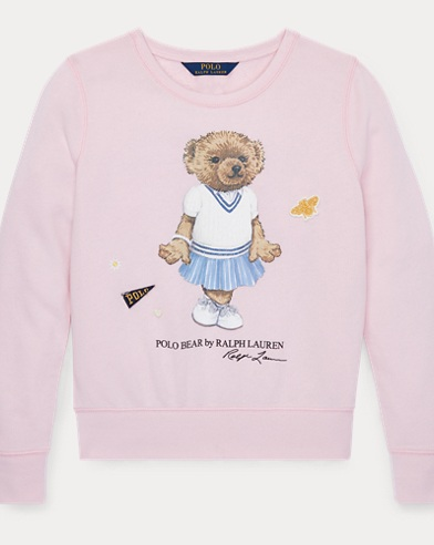 폴로 랄프로렌 Polo Ralph Lauren Cricket Bear Sweatshirt,Hint Of Pink