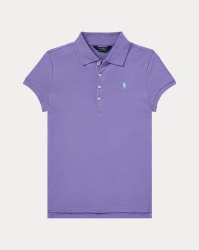 폴로 랄프로렌 Polo Ralph Lauren Cotton Mesh Polo Shirt,Hampton Purple