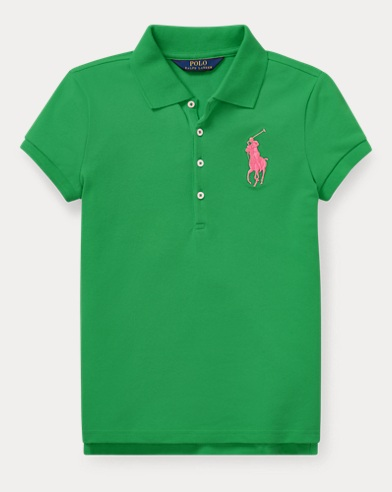 폴로 랄프로렌 Polo Ralph Lauren Big Pony Stretch Mesh Polo,Golf Green