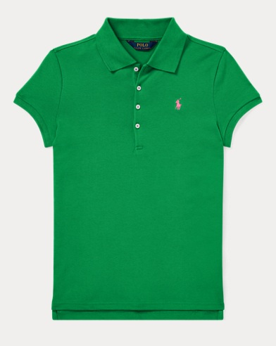 폴로 랄프로렌 Polo Ralph Lauren Cotton Mesh Polo Shirt,Golf Green