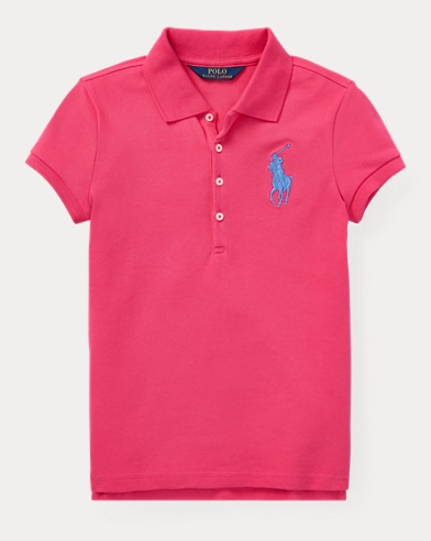 폴로 랄프로렌 Polo Ralph Lauren Big Pony Stretch Mesh Polo,Ultra Pink