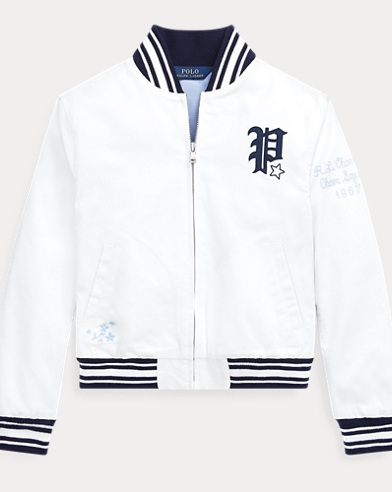 폴로 랄프로렌 Polo Ralph Lauren Chino Baseball Jacket,White