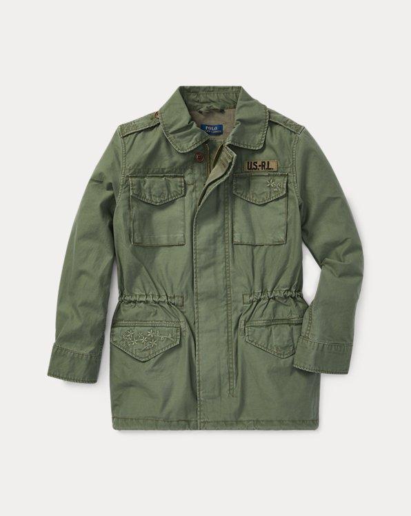 폴로 랄프로렌 걸즈 자켓 Polo Ralph Lauren Cotton Twill Jacket,Army Olive