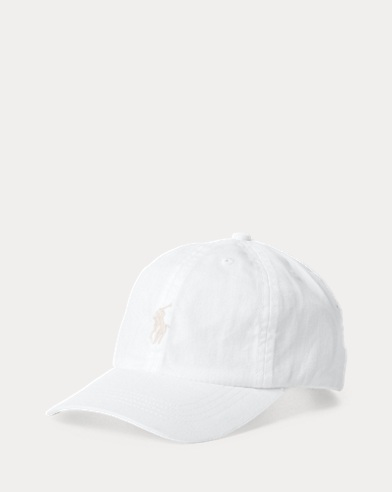 폴로 랄프로렌 Polo Ralph Lauren Cotton Chino Baseball Cap,White
