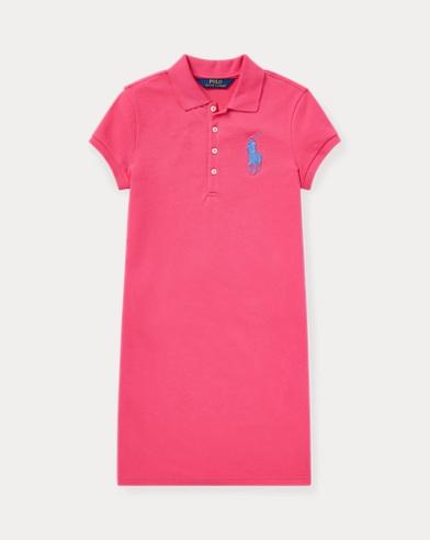 폴로 랄프로렌 Polo Ralph Lauren Big Pony Mesh Polo Dress,Ultra Pink