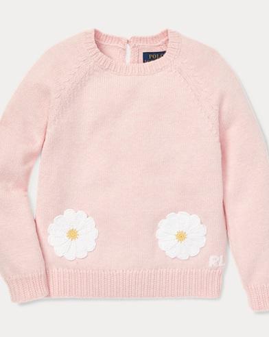 폴로 랄프로렌 Polo Ralph Lauren Daisy-Pocket Cotton Sweater,Hint Of Pink Heather