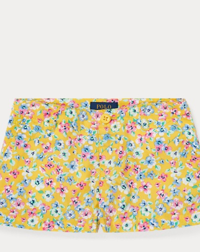 폴로 랄프로렌 여아용 반바지 Polo Ralph Lauren Floral Poplin Short,Yellow Multi