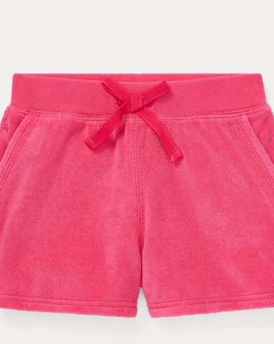 폴로 랄프로렌 여아용 반바지 Polo Ralph Lauren Cotton-Blend-Terry Short,Ultra Pink