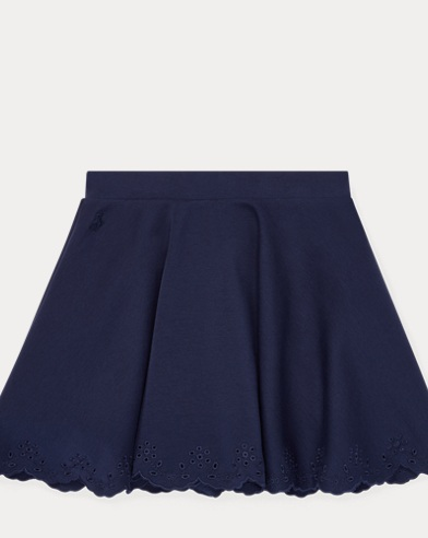 폴로 랄프로렌 Polo Ralph Lauren Eyelet Ponte Circle Skirt,French Navy