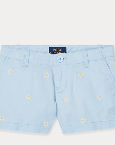 폴로 랄프로렌 여아용 반바지 Polo Ralph Lauren Embroidered Chino Short,Elite Blue