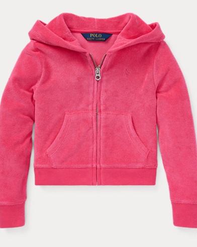 폴로 랄프로렌 Polo Ralph Lauren Cotton-Blend-Terry Hoodie,Ultra Pink