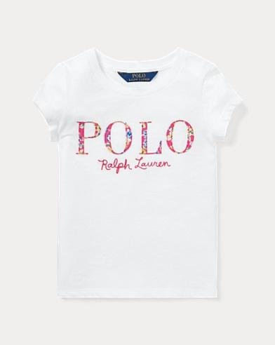 폴로 랄프로렌 Polo Ralph Lauren Floral Polo Jersey T-Shirt,White